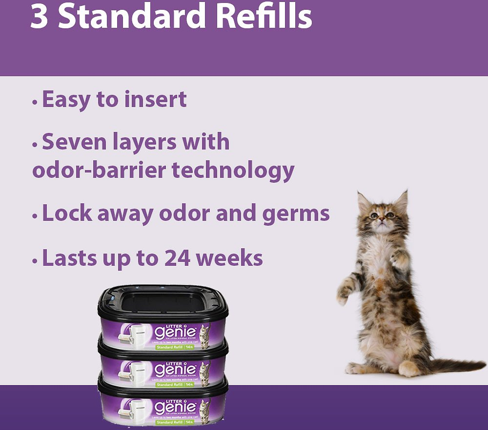 Litter Genie Standard Refill 3 Count Chewy