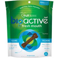 Fruitables BioActive Fresh Mouth Small Dental Chews Dog Treats, 15 count