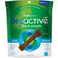 Fruitables BioActive Fresh Mouth Medium Dental Chews Dog Treats, 10 count