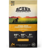 ACANA Free-Run Poultry Recipe Natural Dry Dog Food, 25-lb bag