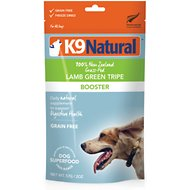 K9 Natural Lamb Green Tripe Booster Freeze-Dried Dog Food Topper, 2-oz bag