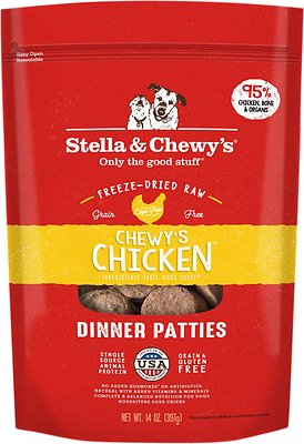 6. Stella & Chewy's Chewy's Chicken Dinner Patties Freeze-Dried Raw Dog Food