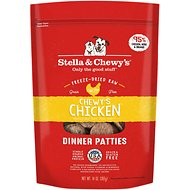 Stella & Chewy's Chewy's Chicken Dinner Patties Grain-Free Freeze-Dried Dog Food, 25-oz bag