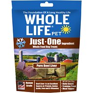 Whole Life Just One Ingredient Pure Beef Liver Freeze-Dried Dog Treats, 4.5-oz bag
