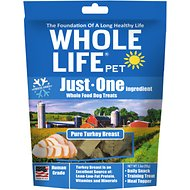 Whole Life Just One Ingredient Pure Turkey Breast Freeze-Dried Dog Treats, 3.3-oz bag