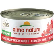 Almo Nature Natural Chicken Drumstick in Broth Grain-Free Canned Cat Food, 2.47-oz, case of 24