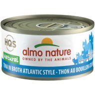 Almo Nature Natural Tuna in Broth Atlantic Style Grain-Free Canned Cat Food, 2.47-oz, case of 24