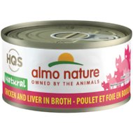 Almo Nature Natural Chicken & Liver in Broth Grain-Free Canned Cat Food, 2.47-oz, case of 24