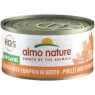 Almo Nature Natural Chicken with Pumpkin in Broth Grain-Free Canned Cat Food, 2.47-oz, case of 24