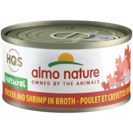 Almo Nature Natural Chicken & Shrimp in Broth Grain-Free Canned Cat Food, 2.47-oz, case of 24
