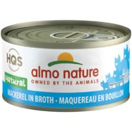 Almo Nature Natural Mackerel in Broth Grain-Free Canned Cat Food, 2.47-oz, case of 24