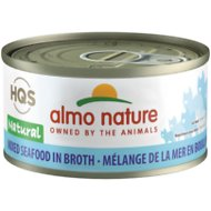 Almo Nature Natural Mixed Seafood in Broth Grain-Free Canned Cat Food, 2.47-oz, case of 24