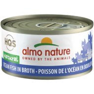 Almo Nature Natural Ocean Fish in Broth Grain-Free Canned Cat Food, 2.47-oz, case of 24