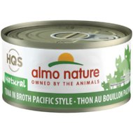 Almo Nature Natural Tuna in Broth Pacific Style Grain-Free Canned Cat Food, 2.47-oz, case of 24