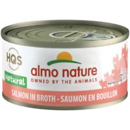 Almo Nature Natural Salmon in Broth Grain-Free Canned Cat Food, 2.47-oz, case of 24
