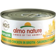 Almo Nature Natural Salmon & Chicken in Broth Grain-Free Canned Cat Food, 2.47-oz, case of 24