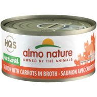 Almo Nature Natural Salmon with Carrots in Broth Grain-Free Canned Cat Food, 2.47-oz, case of 24