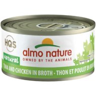 Almo Nature Natural Tuna & Chicken in Broth Grain-Free Canned Cat Food, 2.47-oz, case of 24