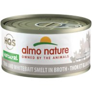 Almo Nature Natural Tuna & Whitebait Smelt in Broth Grain-Free Canned Cat Food, 2.47-oz, case of 24