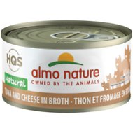 Almo Nature Natural Tuna & Cheese in Broth Grain-Free Canned Cat Food, 2.47-oz, case of 24