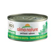 Almo Nature Natural Tuna with Corn in Broth Grain-Free Canned Cat Food, 2.47-oz, case of 24
