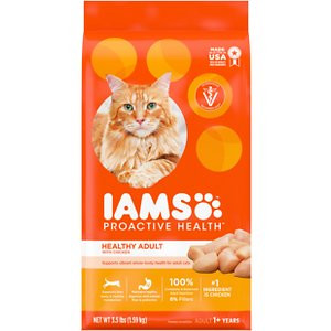 Iams ProActive Health Healthy Adult Original with Chicken Dry Cat Food, 3.5-lb bag