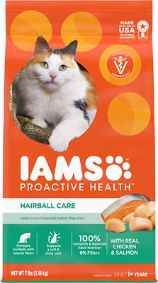 6. Iams ProActive Health Adult Hairball Care Dry Cat Food