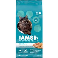 Iams ProActive Health Indoor Weight & Hairball Care Dry Cat Food, 3.5-lb bag