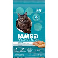 Iams ProActive Health Indoor Weight & Hairball Care Dry Cat Food, 16-lb bag