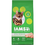 Iams ProActive Health Adult Optimal Metabolism Dry Cat Food, 7-lb bag