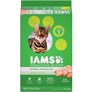 Iams ProActive Health Adult Optimal Metabolism Dry Cat Food, 16-lb bag