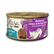 Purina Muse Natural Salmon & Shrimp Recipe Pate Adult Grain-Free Canned Cat Food, 3-oz, case of 24