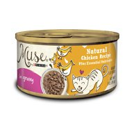 Purina Muse Natural Chicken Recipe in Gravy Adult Canned Cat Food, 3-oz, case of 24