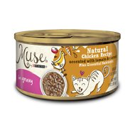 Purina Muse Natural Chicken Recipe Accented with Tomato & Carrot in Gravy Canned Cat Food, 3-oz, case of 24
