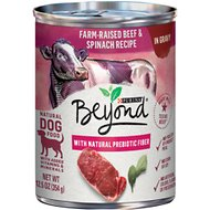 Purina Beyond Farm-Raised Beef & Spinach in Gravy Recipe Grain-Free Canned Dog Food, 12.5-oz, case of 12