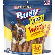 Busy Bone with Beggin' Twist'd! with Real Bacon Small/Medium Dog Treats, 6 count