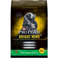 Purina Pro Plan Bright Mind Adult Small Breed Formula Dry Dog Food, 16-lb bag
