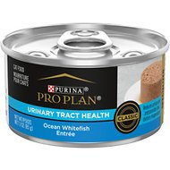 Purina Pro Plan Focus Adult Classic Urinary Tract Health Formula Ocean Whitefish Entree Canned Cat Food, 3-oz, case of 24