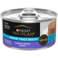 Purina Pro Plan Focus Adult Classic Urinary Tract Health Formula Turkey & Giblets Entree Canned Cat Food, 3-oz, case of 24