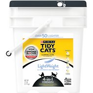 Tidy Cats Lightweight 4-in-1 Strength Clumping Cat Litter, 17-lb pail
