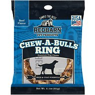 Redbarn Beef Flavor Skin & Coat Formula Chew-A-Bulls Ring Dog Treat, 1 count