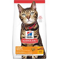 Hill's Science Diet Adult Light Chicken Recipe Dry Cat Food, 16-lb bag