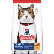 Hill's Science Diet Adult 7+ Chicken Recipe Dry Cat Food, 16-lb bag