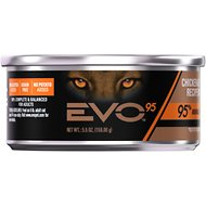 EVO 95 Grain Free Chicken & Turkey Recipe in Gravy Canned Cat Food 5.5-oz, case of 24