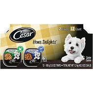 Cesar Home Delights Turkey Dinner & Pot Roast Variety Pack Dog Food Trays, 3.5-oz, case of 12