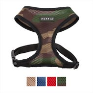 Puppia Soft  Black Trim Dog Harness, Camo, Small