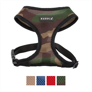 Puppia Black Trim Polyester Back Clip Dog Harness