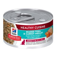 Hill's Science Diet Adult Healthy Cuisine Seared Tuna & Carrot Medley Canned Cat Food, 2.8-oz, case of 24