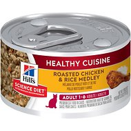 Hill's Science Diet Adult Healthy Cuisine Roasted Chicken & Rice Medley Canned Cat Food, 2.8-oz, case of 24