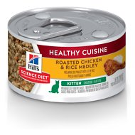 Hill's Science Diet Kitten Healthy Cuisine Roasted Chicken & Rice Medley Canned Cat Food